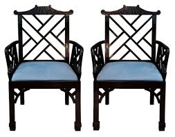 chinese chippendale chairs pair lacquered chinese chippendale style arm chairs shop dma