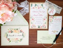 wedding invitations floral my diy story mint floral wedding invitation cards