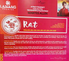 rat 2 2017 feng shui forecast by marites allen at sm lanang