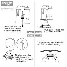 how to install retrofit led can lights 17watt 6 inch retrofit led recessed light wet location torchstar