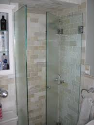 Frameless Frosted Glass Shower Doors by Frameless Bifold Hinged Door Eliminates Any Frame And Fits Our