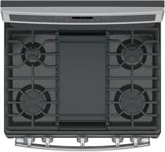 Cooktop With Griddle And Grill Ge Pgb911sejss 30 Inch Freestanding Gas Range With Chef Connect