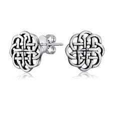 stud earings 925 sterling silver celtic shield knot stud earrings 9mm