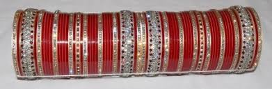 punjabi wedding chura custom made silver bridal chura for the punjabi ch004