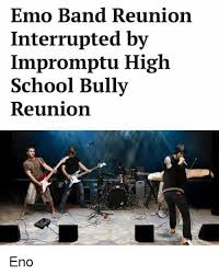 Emo Band Memes - emo band reunion interrupted by impromptu high school bully
