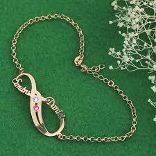 birthstone bracelet for aliexpress buy personalized infinity birthstone bracelet
