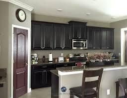 sherwin williams keystone gray in a kitchen with espresso dark