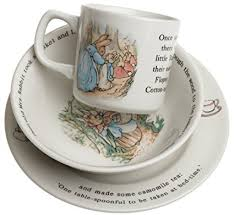 wedgwood rabbit original 3 set mug plate