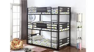 Three Tier Bunk Bed Modern Size Three Tier Bunk Bed Dc Furniture Stores
