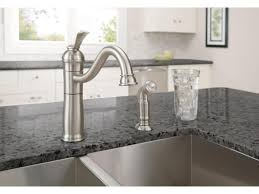brushed nickel kitchen faucets moen monticello kitchen faucet brushed nickel