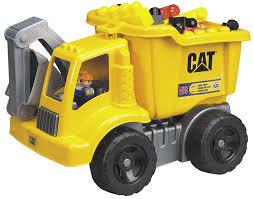 amazon com mega bloks cat large vehicle dump truck toys u0026 games