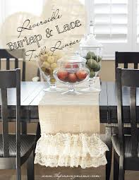 what is a table runner easy diy reversible burlap and lace table runner this is so pretty