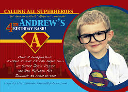Design For Birthday Invitation Card Superman Bday Invitation Cloveranddot Com