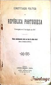 capa da constituição política da república portuguesa 1911