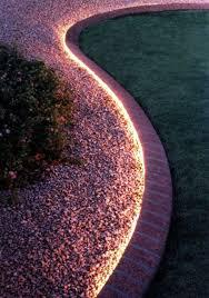 Outdoor Rope Lighting Ideas Use Rope Lighting To Line Your Garden Rope Lighting Backyard