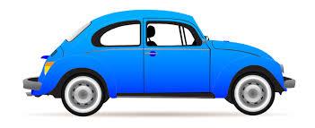 car clipart blue beetle profile svg