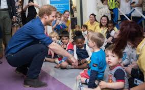 prince harry meets with and their families at leeds