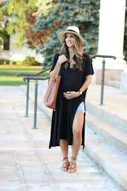 maternity fashion maternity style high side slit maxi dress mcbride
