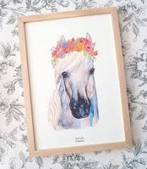 Horse Decor For The Home Flowers U0026 Horses Artwork Horse Flowers Flower Artwork And Horse