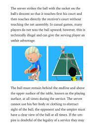 10 rules of table tennis ibook stories preschool