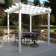 Pergola Gazebo With Adjustable Canopy by Shop Pergolas At Lowes Com