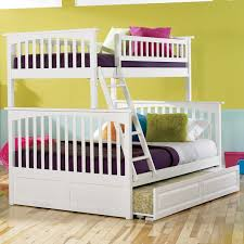 Columbia Twin Over Full Bunk Bed In White  Bunk Bed Deals - Twin over full bunk bed trundle