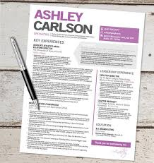 Graphic Designer Sample Resume by The Ashley Resume Template Design Graphic Design Marketing