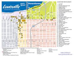Louisville Map Kentucky International Convention Center Visitor Maps