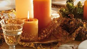 candle centerpieces for tables strikingly beautiful candle centerpieces for tables diy christmas table orange gold pillar candles diy 40 ideas your dining 585x329 jpg