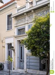 Neoclassical Home Plans Facade Of Neoclassical Building In Athens Stock Photo Image