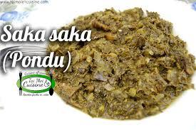 recette de cuisine africaine saka saka pondu à la morue fumée congo tchop afrik a cuisine