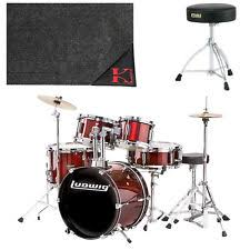 tama rhythm mate drum kit with cymbals and throne red stream ebay