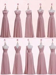 bridesmaid dresses 2015 buy floor length sleeveless pink chiffon bridesmaid dress