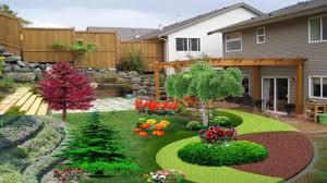 sloped yard landscape design american hwy