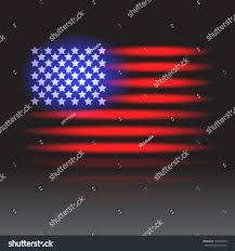 Flag Lights American Flag Neon Lights On Wet Stock Vector 104738225 Shutterstock