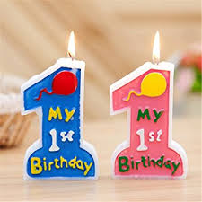 1st birthday candle partysanthe my 1st birthday candle for baby boy in toys
