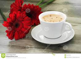 Beautiful Coffee Cups Coffee And Beautiful Flowers Stock Photo Image 54970108