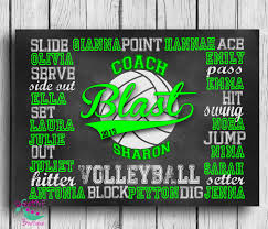 customized volleyball coach gift personalized volleyball