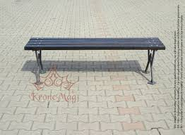iron park benches outdoor park bench without backs wigan fr