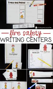 fire safety writing centers the kindergarten connection