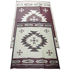 Awning Mats Amazon Com Fireside Patio Mats Navajo Breeze Burgundy And Beige 9