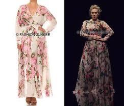 off white chiffon floral maxi wrap dress long sleeve flowy plus
