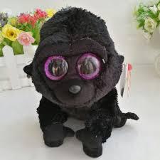 george gorilla chimpanzee ty beanie boos 1pc 15cm big eyes plush