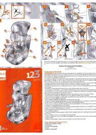 manuel français du tex siège auto groupe 1 2 3 notice tex siège