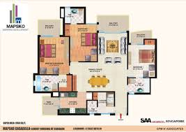 Casa Bella Floor Plan Mapsko Casa Bella Mapsko Builders Sector 82 Nh 8 Gurgaon Floor
