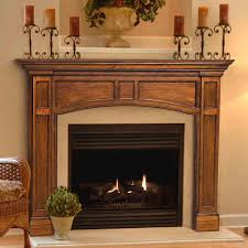 pearl mantels 48 vance distressed medium oak finished fireplace surround by