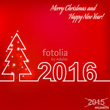 merry christmas and happy new year 2016 creative greeting card