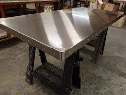 stainless steel table top cover 82 satin stainless steel table top with copper rivets stainless
