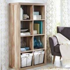 Sauder Harbor View Bookcase Bookcase Cube Shelves Wood Scribed Oak Office Storage Organizer