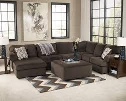 living room stain wall gray fabric comfy sofa gray fabric